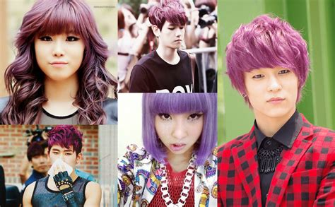 popular kpop hair colours more kpop idols with different color hairstyles allkpop