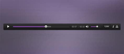 design html audio player audio player psd vector file 365psd com