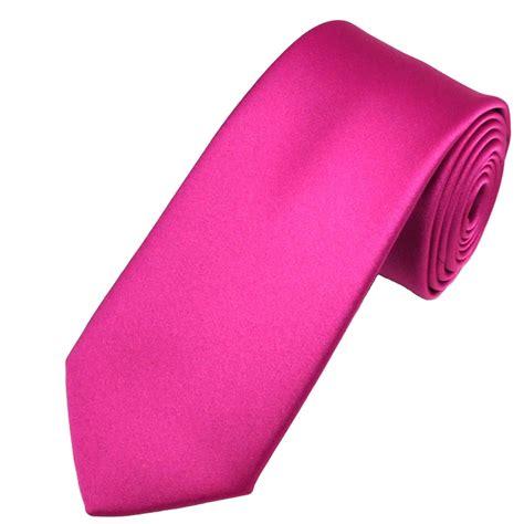 plain fuchsia pink satin tie from ties planet uk