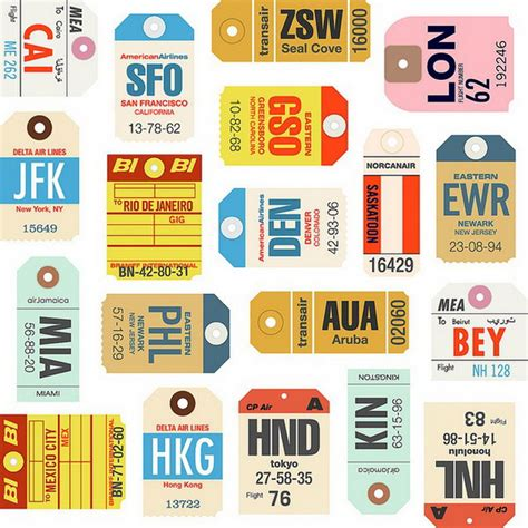 Free Printable Airline Luggage Tags | pin luggage tags free printable templates on pinterest