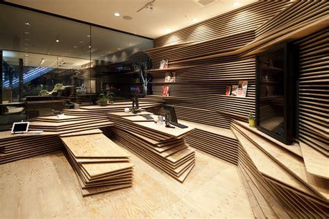 Kengo Kuma Rethinks The Of Shun Shoku Lounge By Guranavi Kengo Kuma Associates Archdaily