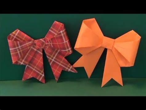 Origami With Ribbon - origami how to make a paper bow ribbon