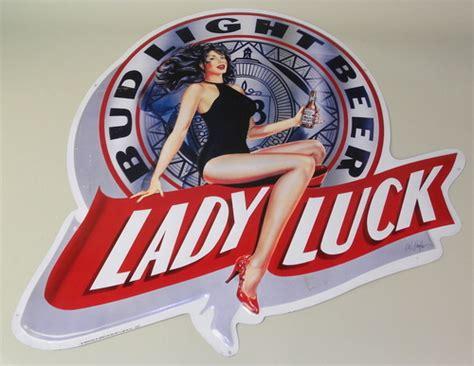 bud light tin signs large 1991 bud light beer tin bar advertising quot lady