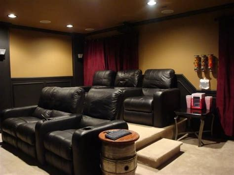 Small Basement Home Theater Ideas 25 Best Ideas About Home Theater Curtains On