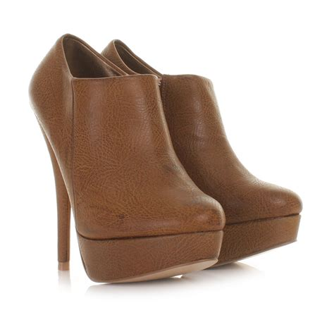 brown heeled ankle boots boot yc
