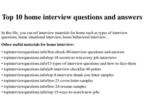 home design questions and answers top 10 home interview questions and answers