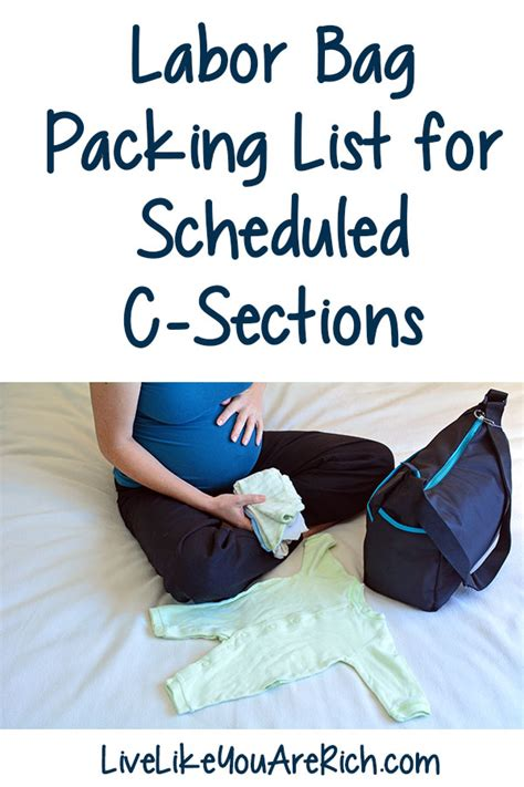 c section packing list labor bag packing list for scheduled c sections live