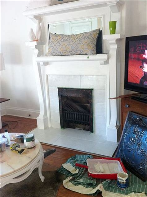 Painting Tile Fireplace Surround by Fireplace Tiles Painting Fireplace And Fireplaces On