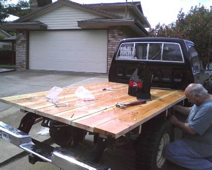 diy wood truck bed wood flatbed wood boring insects