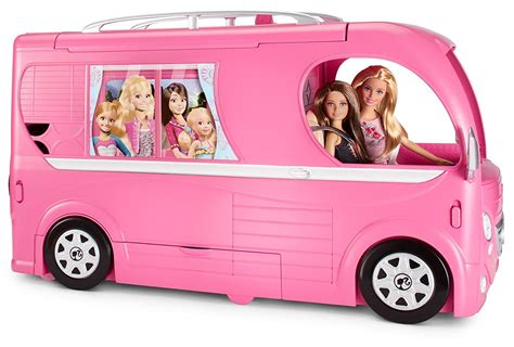 barbie cars with back barbie pop up cer van kids girls gift pink children