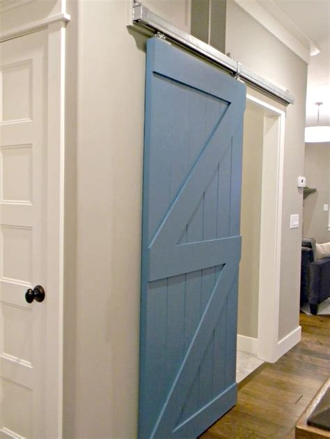 Sliding Barn Door To Mud Room Diy Blogger House At Sliding Barn Doors For Bathroom