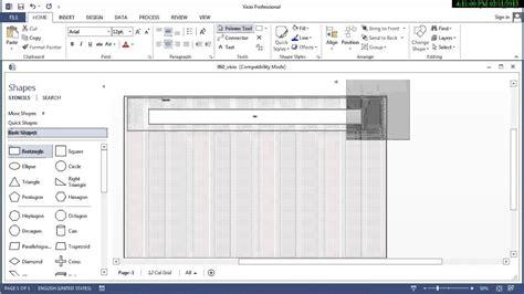 visio grid shape using visio to lay out a 12 column 960 grid