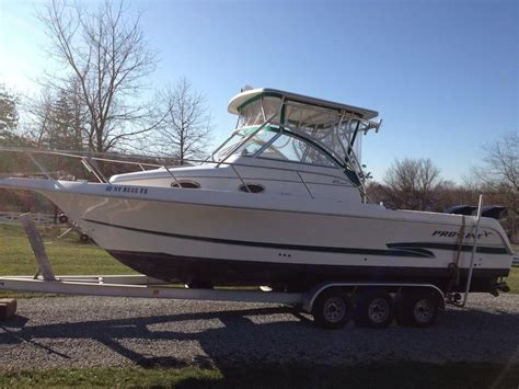 used proline walkaround boats for sale 2001 used pro line 27 walk around srg 27 walk around srg