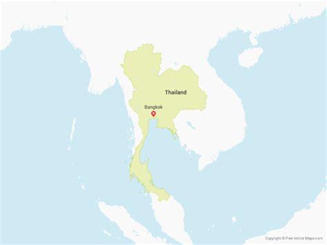 vector map thailand vector map of thailand free vector maps
