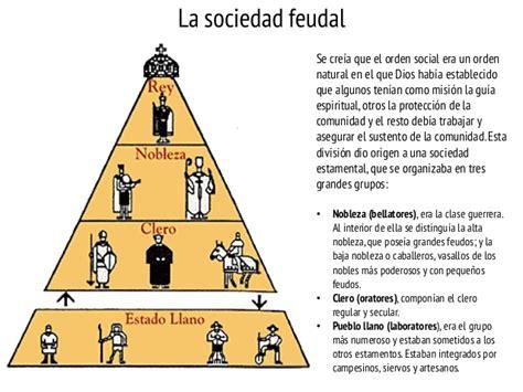 piramide social del sistema feudal clase del feudalismo clase de historia