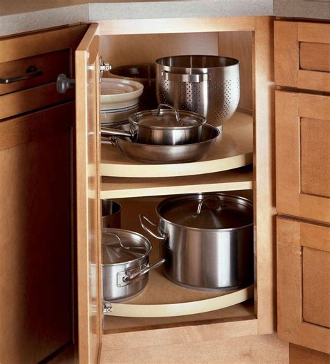 Corner Kitchen Cabinet Storage Solutions Corner Cabinet Storage Kitchen Cabinets Pinterest