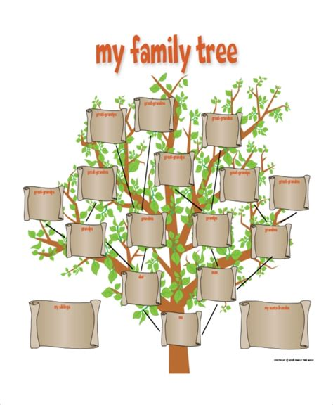 family tree templates with siblings family tree template 8 free word pdf document