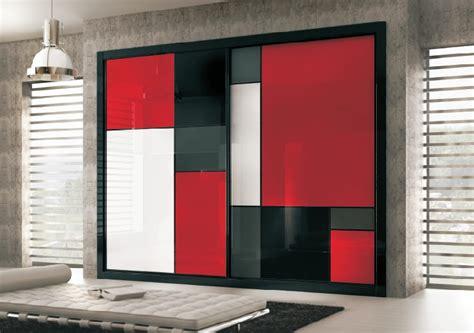 fotos blanco y negro y rojo armario en cristal lacobel negro rojo blanco y gris