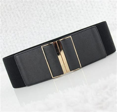 Accesories Kalung Korea 2 korea style buckle all match imitation leather cummerbunds for elastic wide waist