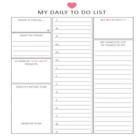 task list planner task list templates