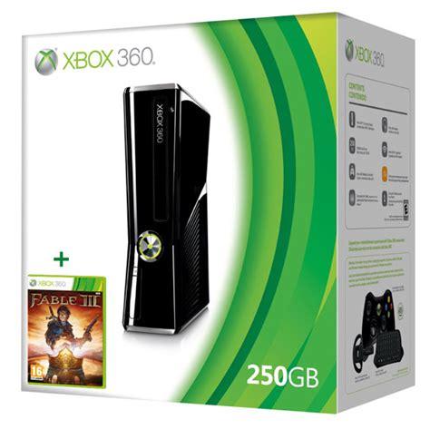 microsoft xbox 360 250gb console console xbox 360 250 go microsoft fable iii console de