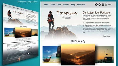 tutorial website making website design in photoshop tutorial stylish tourism