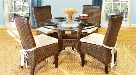 casual dining room sets rattan round casual dining room sets