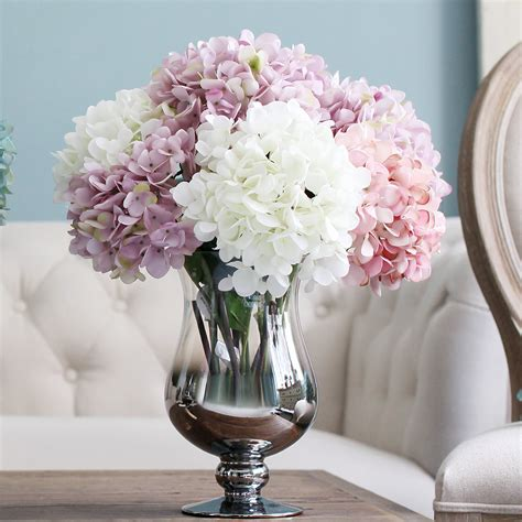 artificial flower decoration for home artificial silk flower hydrangea bouquet party artificial
