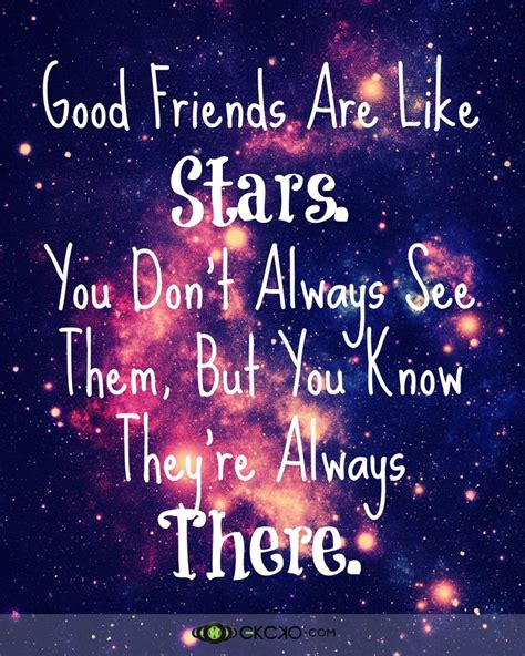 good friends   stars friendsquote good friends