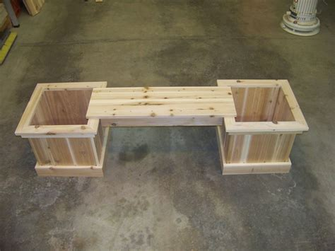 Planter Box Bench by Vanderhoff Construction