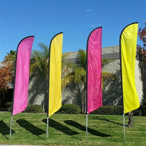 colored flags colored feather flag banner balloons on a stick