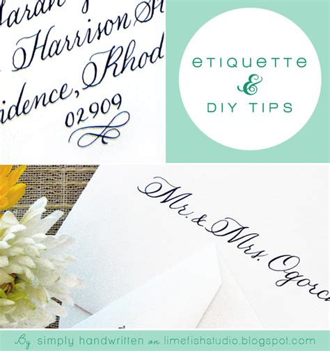 Wedding Invitations Etiquette by Simply Handwritten Diy Wedding Invitations And Envelope