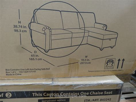 newton chaise sofa bed costco pulaski newton chaise sofa bed