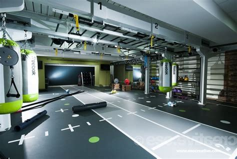 fitness center layout design pinterest home building modern fitness spaces garage doors workout areas