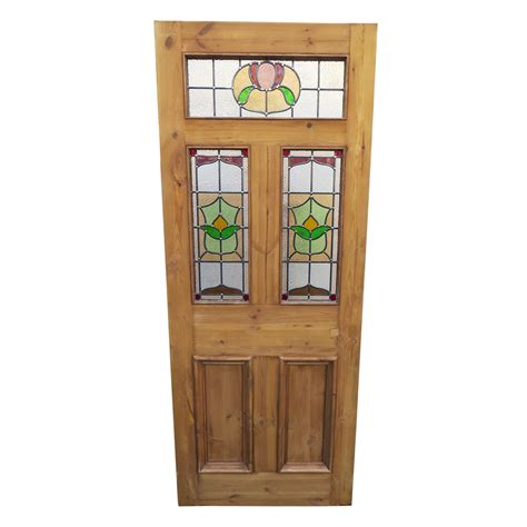 Original 5 Panel Stained Glass Door Period Home Style Glass Doors For Home