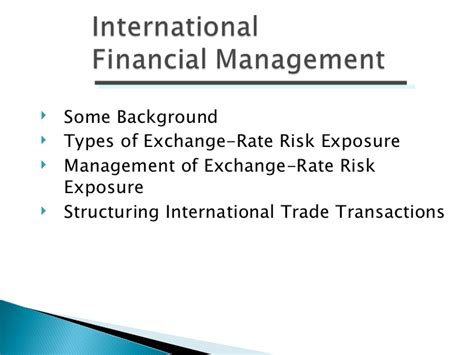 Mba Financial Management Ppt international financial management ppt bec doms bagalkot