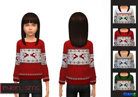 Sweater Chs 2warna totally sims 4 updates child sweater