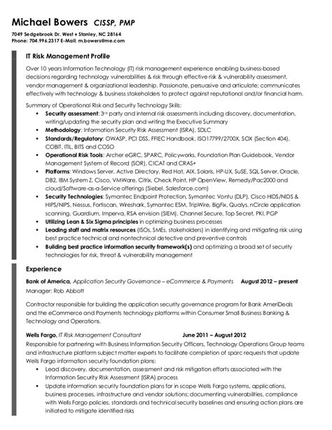 Risk Management Resume by Operational Risk Management Resume Resume Ideas