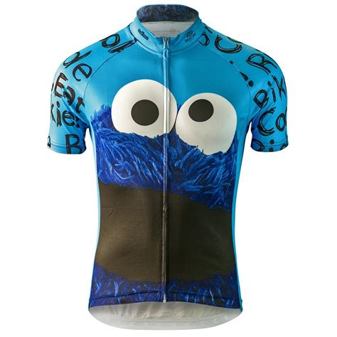 monster jersey cookie monster sesame street mens cycling jersey