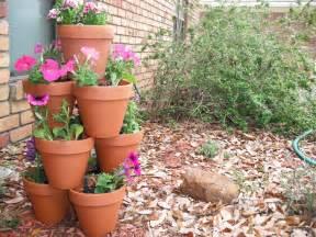 stacked flower pots crafts pinterest