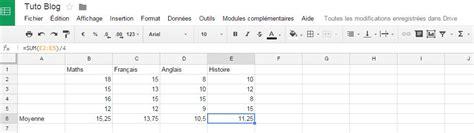 Calcul Credit Formation 2015 Creer Une Feuille De Calcul Sur Sheets L Equivalent D Excel Le De La Formation