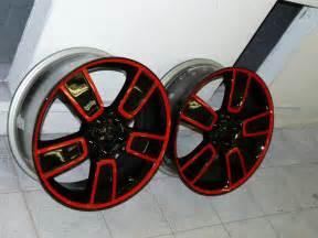 Painting Truck Wheels Black Newly Black N Painted 18 Quot Wheels Looks