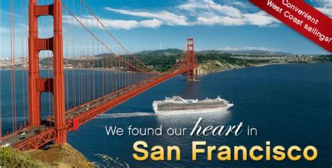 cruises departing from san francisco cruise deals departing from san francisco united