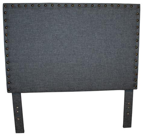 gray linen headboard studded gray linen headboard transitional