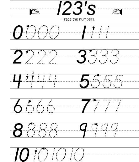 Number Writing Practice Worksheets by Free Practice Writing Numbers Worksheet