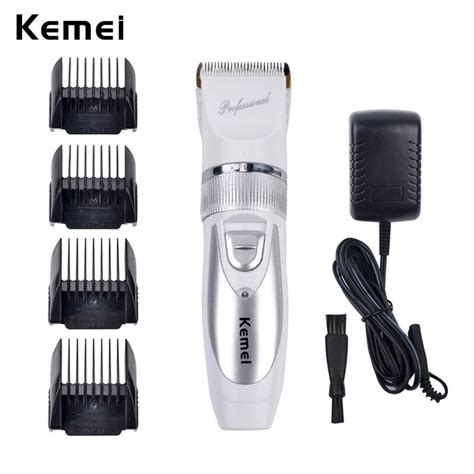 shaveroutlet hair clippers trimmers mens grooming kemei rechargeable hair trimmer electric hair clipper