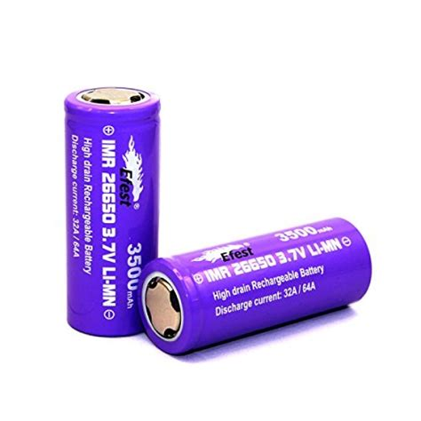 Efest Purple Imr 26650 Li Mn Battery 3500mah 3 7v 64a With Flat Top 26650v1 efest purple imr 26650 3500 mah 3 7v li mn rechargeable battery flat top 64 high drain