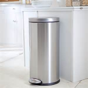 stainless steel kitchen trash can simplehuman 174 brushed stainless steel step 8 gallon