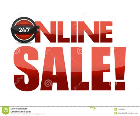 online design of text online sale text illustration design royalty free stock