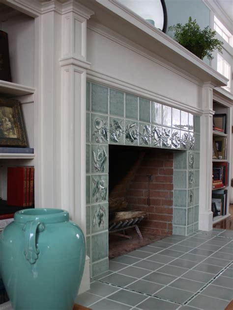 creating  art tile fireplace design   arts